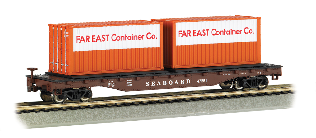 Seaboard® - 52' Flat Car with Container Load