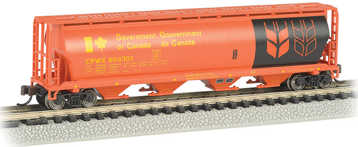 Gov. Of Canada - Red - 4 Bay Cylindrical Grain Hopper