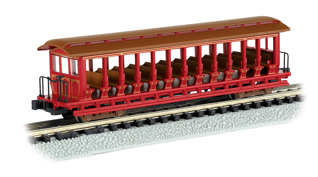 Unlettered - Red/Brown - Jackson Sharp Open Excursion Car - Click Image to Close