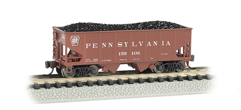 Pennsylvania (Tuscan red) - USRA 55 Ton 2-Bay Hopper