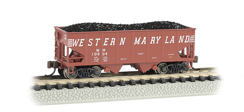 Western Maryland (speed lettering) - USRA 55 Ton 2-Bay Hopper