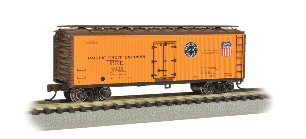 Pacific Fruit Express-40' Wood-side Refrigerated Box Car