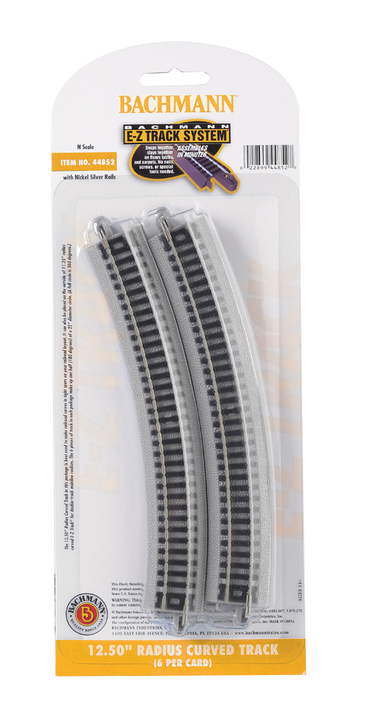 "12.50"" Radius Curved Track (N Scale) - Click Image to Close"