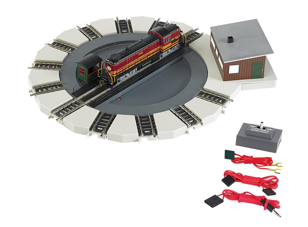 "Bachmann 46799 N Motorized Turntable E-Z Track Kit 7-1/2"" Diameter 5-1/2"" Bridge"