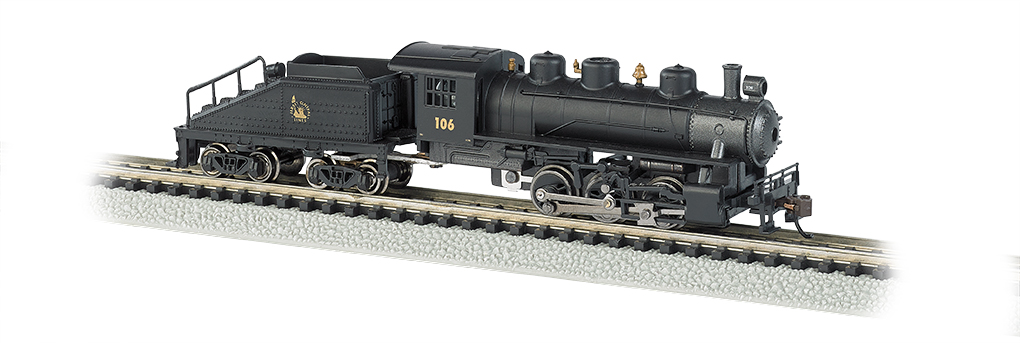BAC50565 Bachmann Industries N 0-6-0w/Tender CNJ #106 160-50565