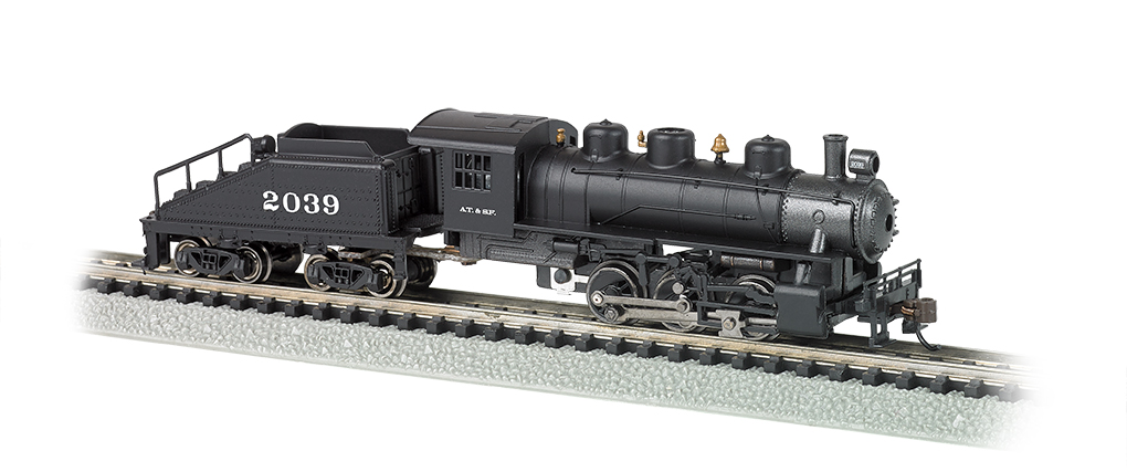 BAC50566 Bachmann Industries N 0-6-0 w/Tender ATSF #2039 160-50566