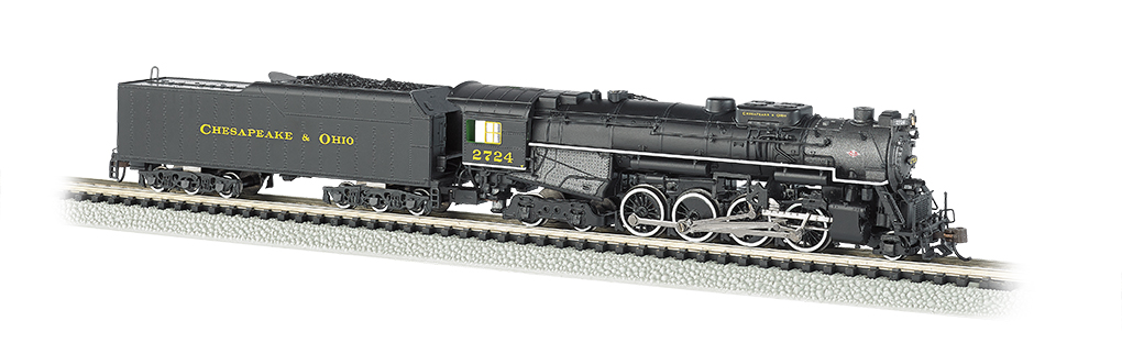 Bachmann 50953 N Kanawha-Type 2-8-4 Berkshire w/Sound & DCC Chesapeake & Ohio #2724