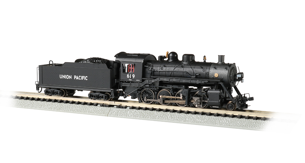 Bachmann 51352 N Baldwin 2-8-0 Consolidation Sound and DCC Union Pacific #619 Graphite