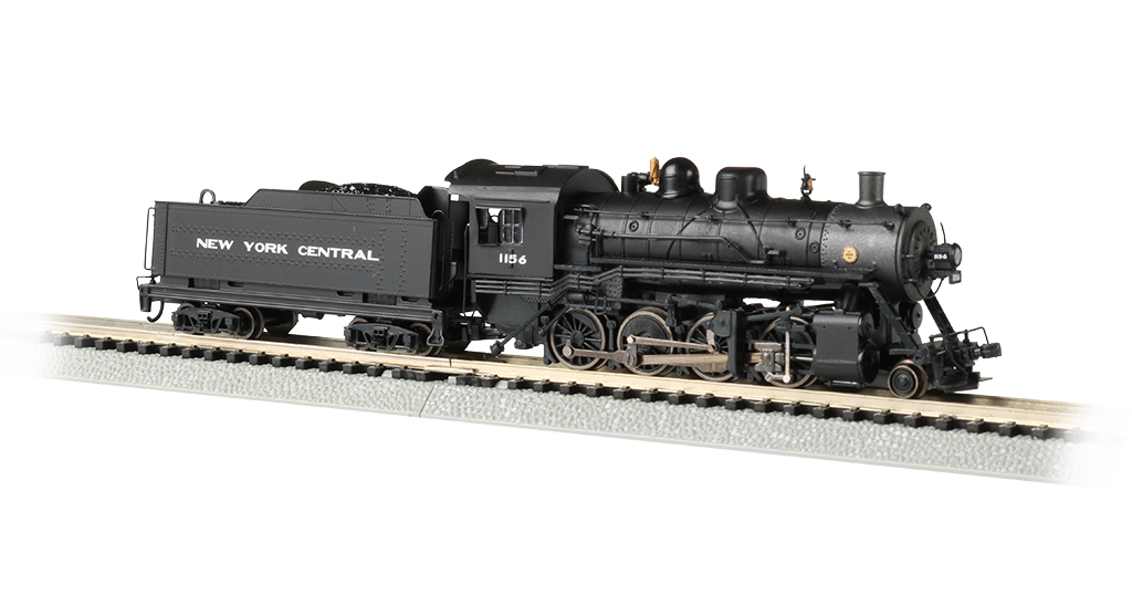 Bachmann 51354 N Baldwin 2-8-0 Consolidation Sound and DCC New York Central #1156 Graphite