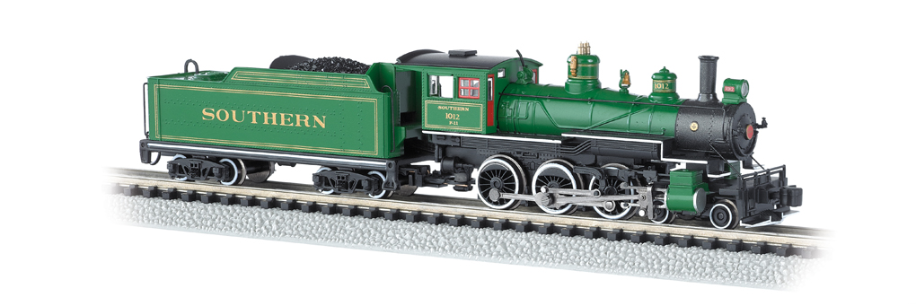 Southern #1012 (Green With Gold Stripes) - DCC (N Baldwin 4-6-0)