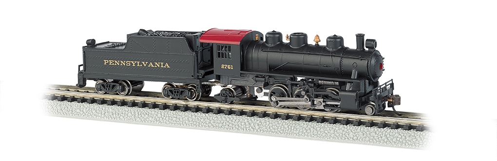 Pennsylvania #2761 - Prairie 2-6-2 & Tender (N Scale)