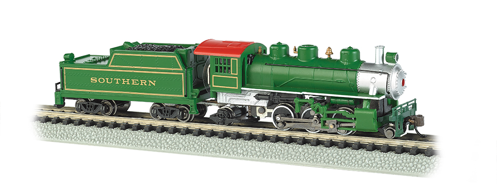 Southern (Green) - Prairie 2-6-2 & Tender (N Scale) - Click Image to Close