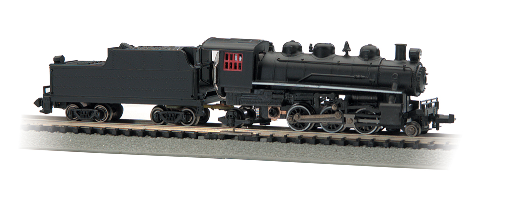 Painted Unlettered - 2-6-2 Prairie & Tender (N Scale)