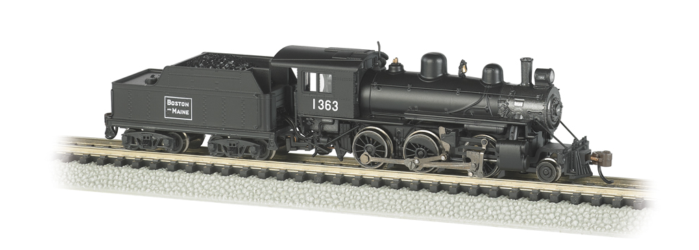 Boston & Maine #1363 - ALCO 2-6-0 - DCC (N Scale)