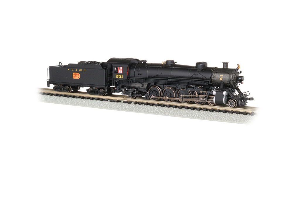 NC & St. Louis #551 - 4-8-2 Light Mountain - DCC Sound Value
