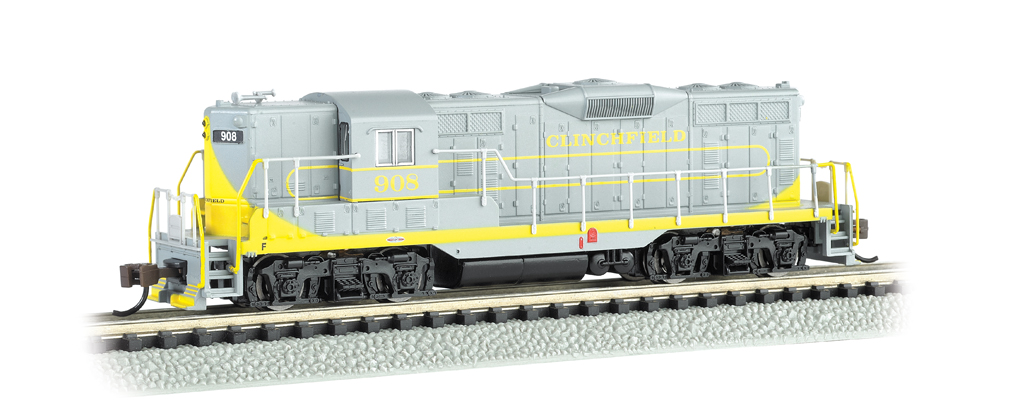 Clinchfield #908 w/ dynamic brakes - GP7 - DCC Equipped