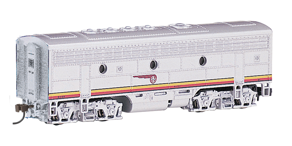 Santa Fe (silver / red War Bonnet) - F7B - DCC