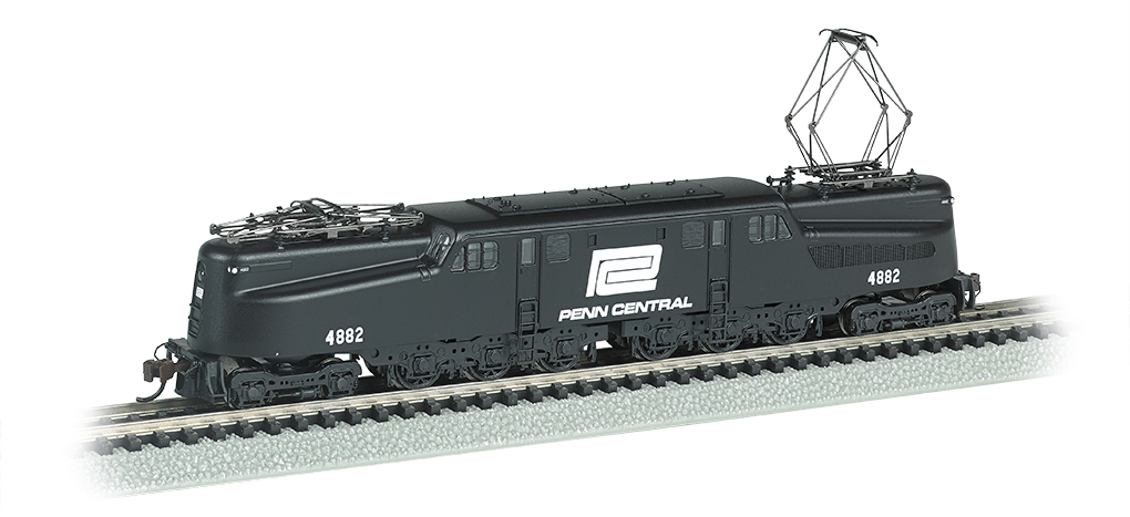 Penn Central GG-1 #4882 – Black & White DCC Ready (N Scale)