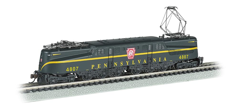 Bachmann 65351 N GG1 Electric w/Sound & DCC Pennsylvania Railroad #4807 Brunswick Green Yellow Single Stripe