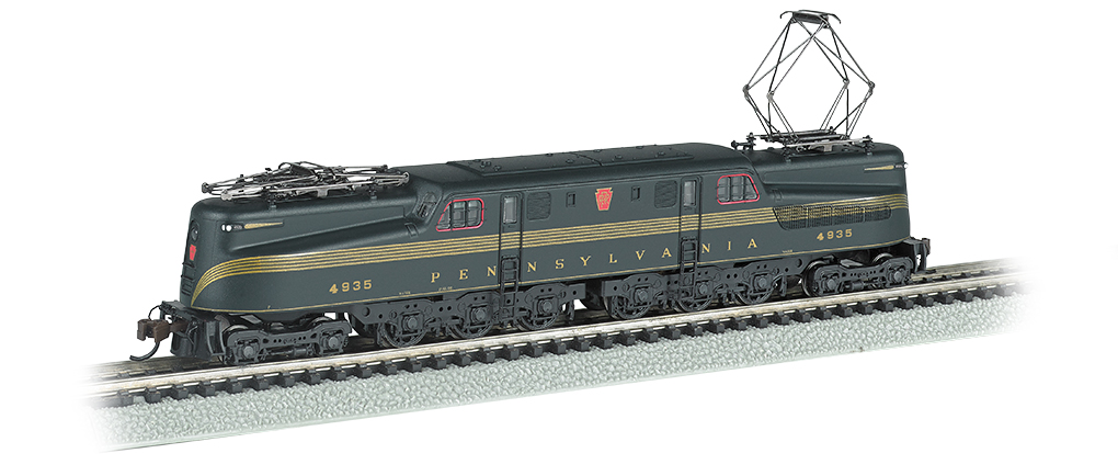 PRR GG-1 #4935 – Brnswck Green 5 Stripe DCC Sound (N Scale)