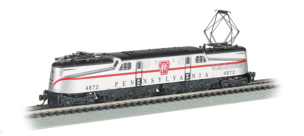 PRR GG-1 #4872 – Silver w/ Red Stripe DCC Sound (N Scale)