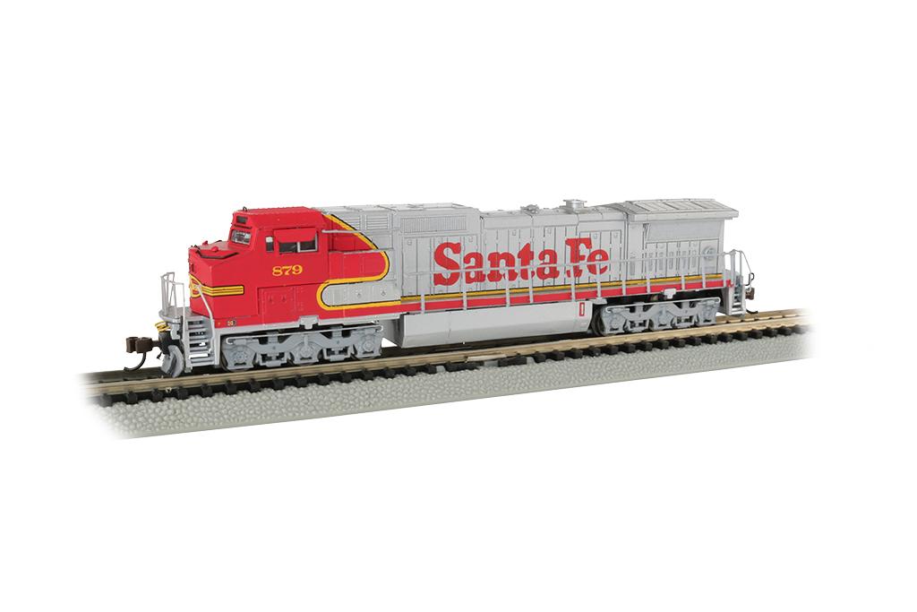 N Scale Santa Fe GE DASH 8-40CW DCC /& SOUND EQUIPPED Bachmann 67352