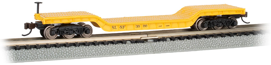 52' Center-Depressed Flat Car - Frisco #3900 with No Load
