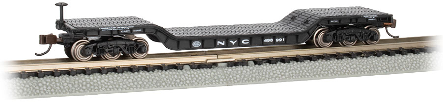 52' Center-Depressed Flat Car - NYC #498991 with No Load