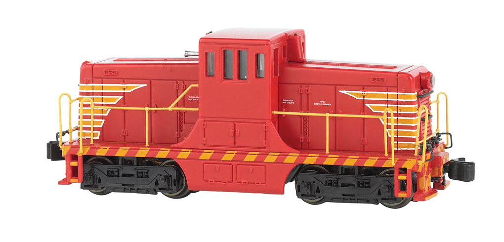 Painted, Unlettered - Red & Yellow - GE 44 Ton Switcher - DCC