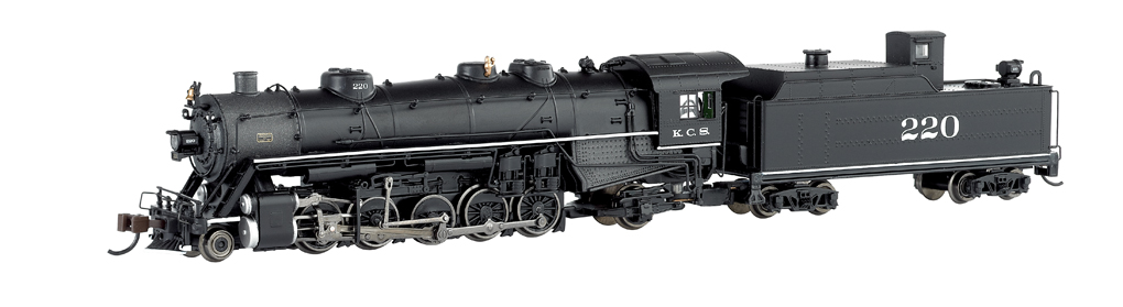 Kansas City Southern #220 - USRA light 2-10-2 - DCC (N Scale)