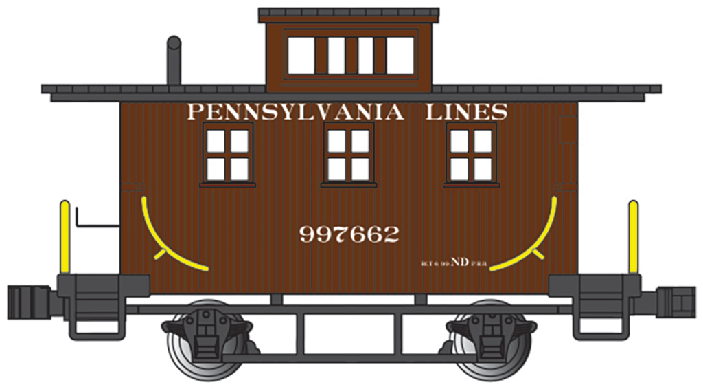 Pennsylvania Lines - Old-Time Caboose (N scale)