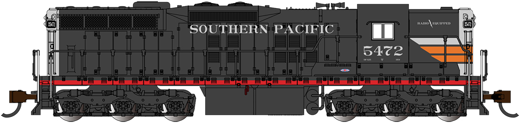 Southern Pacific #5472 - EMD SD9 - DCC Sound Value - Econami