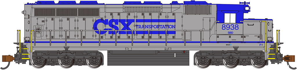 CSX Transportation #8938 - SD45 - DCC Sound Value