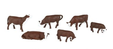 Cows - Brown & White - O Scale