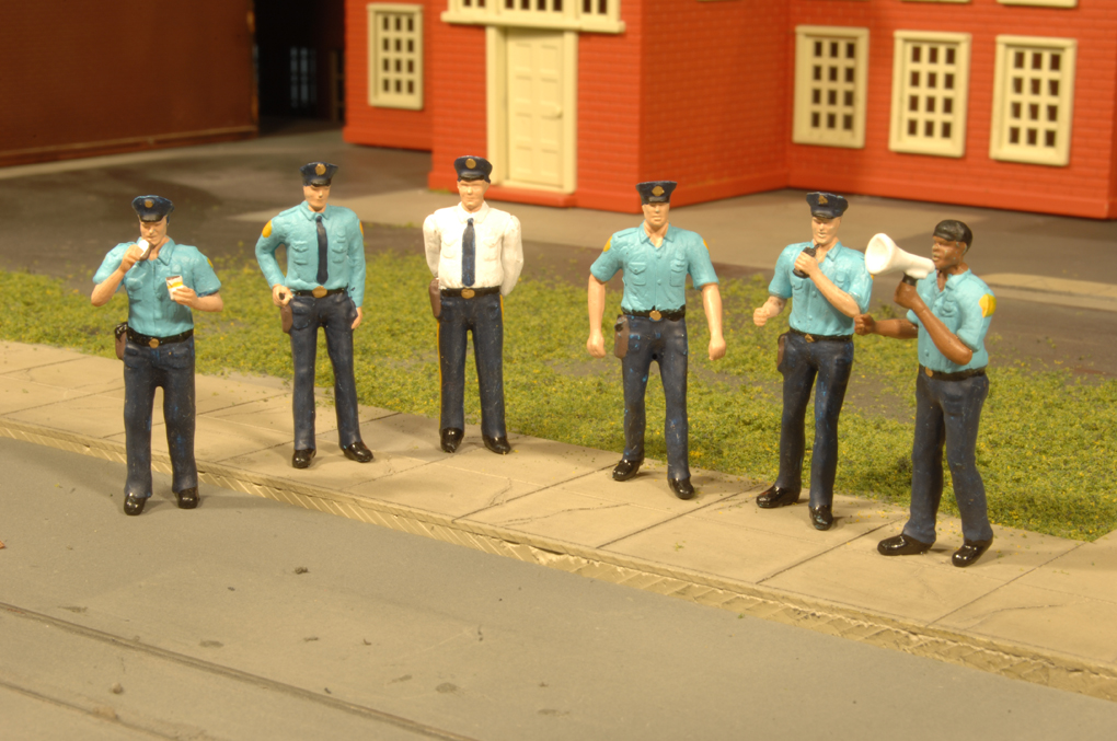 O scale police station
