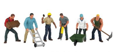 Construction Workers - O Scale - Click Image to Close