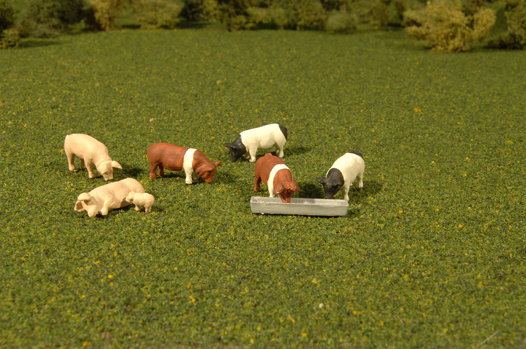 Bachmann 33168 O Animals Pigs Pkg 9