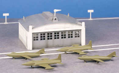 Airport Hangar with Airplanes