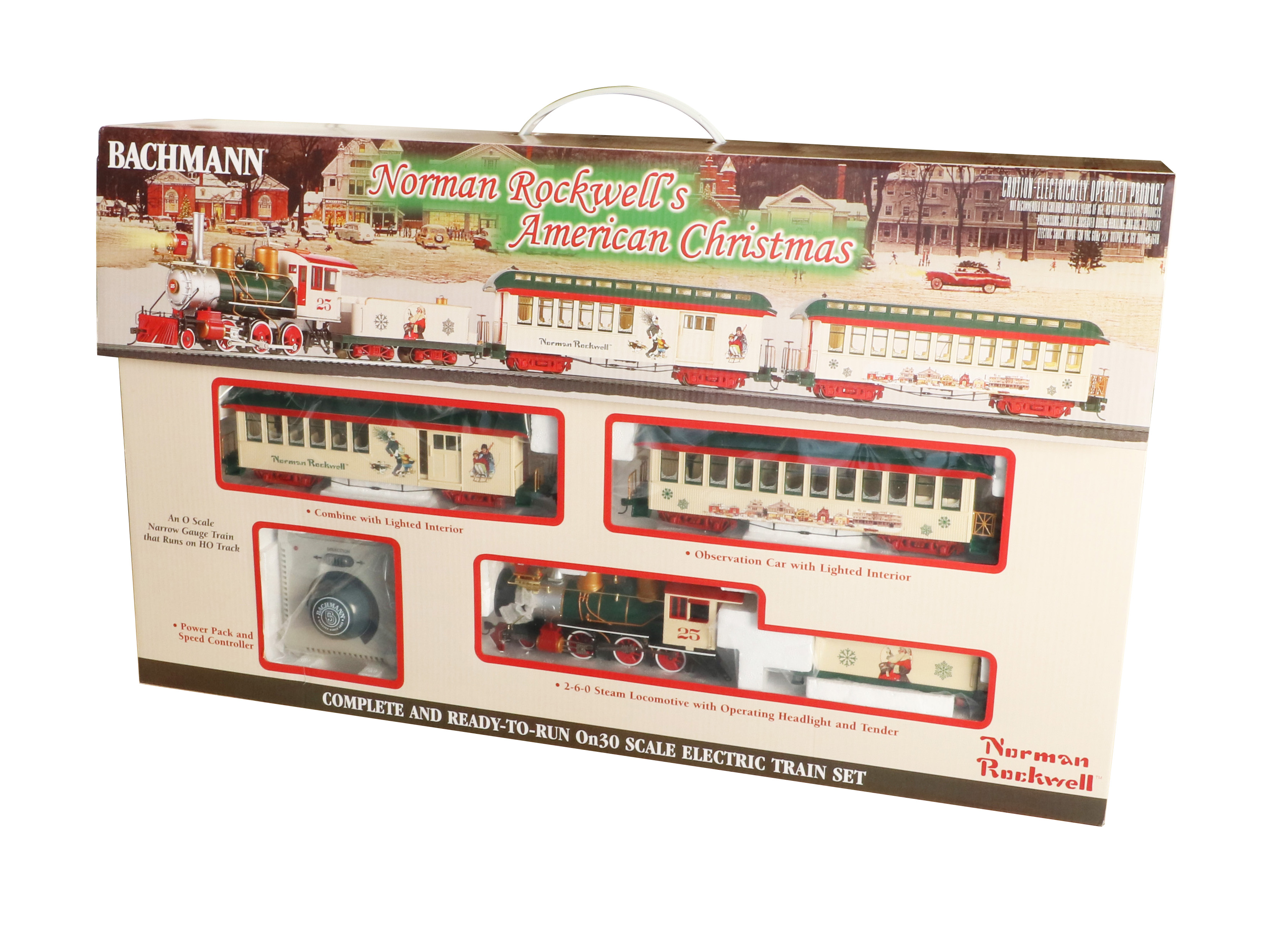 Bachmann 25023 On30 Train Set Norman Rockwell's American Christmas