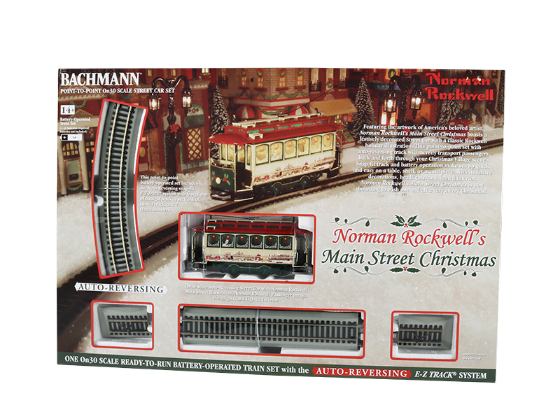 Bachmann 25100 On30 Norman Rockwell's Main Street Christmas Train Set Battery Operated