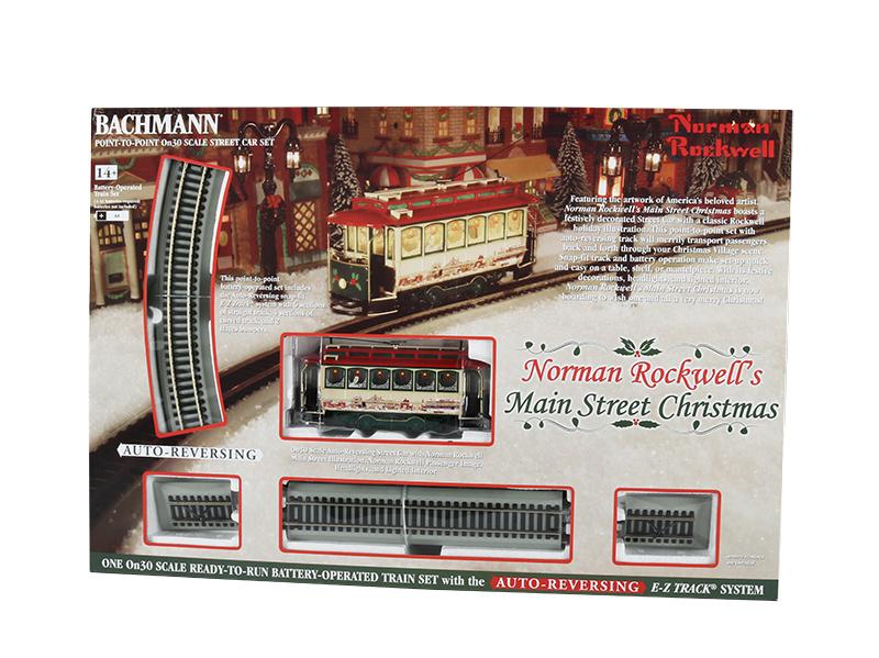 BAC25100 Bachmann Industries On30 N.Rckwll Main St Xmas Set 160-25100