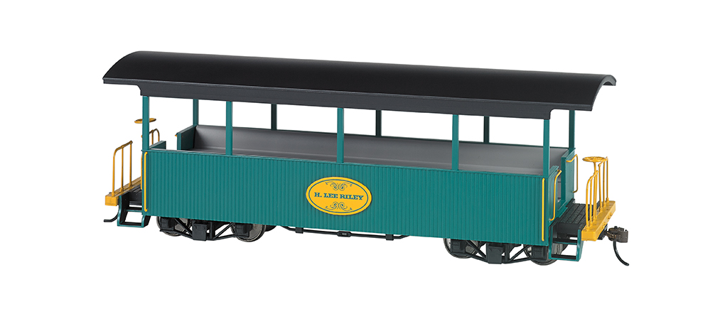 Bachmann 26005 On30 Wood Excursion Car H. Lee Riley Green Roof