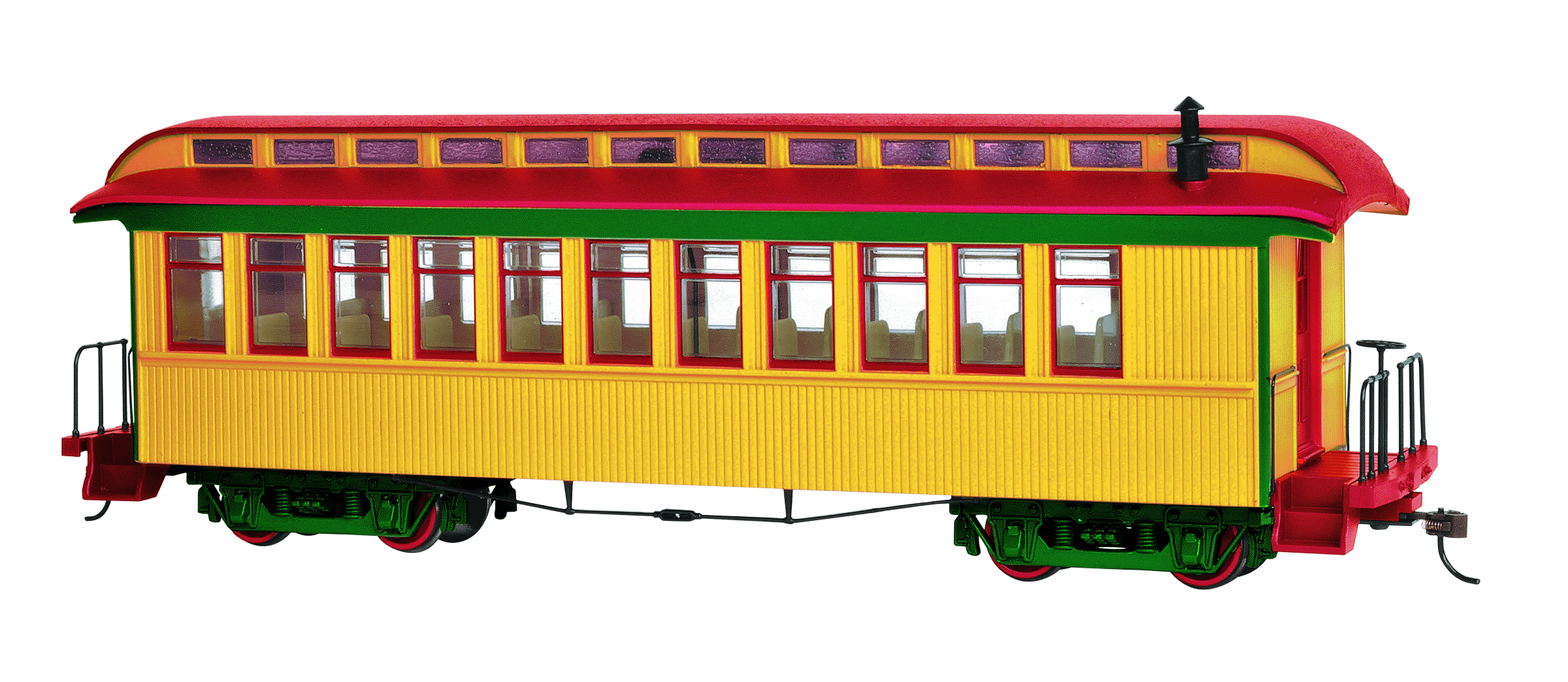 Bachmann 26203 On30 Wood Coach/Observation Spectrum Painted Unlettered Green