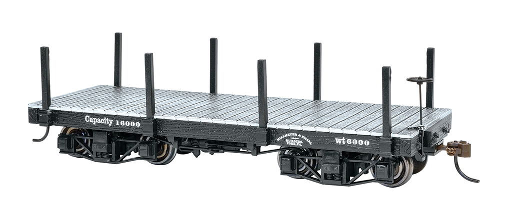 18 ft. Flat Car - Black, Data Only (2 per box)