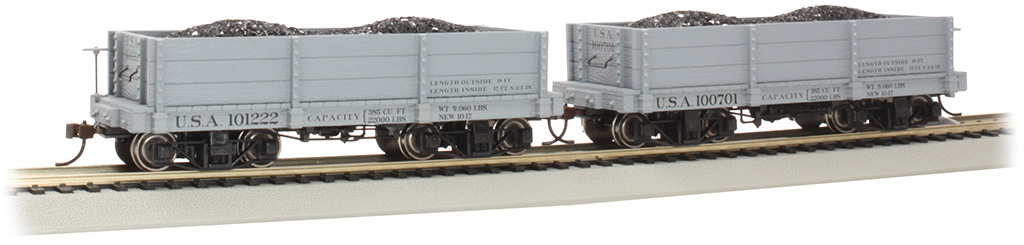 18 ft. Low-Side Gondola - USA #100701 & #101222 - Gray (2/box)