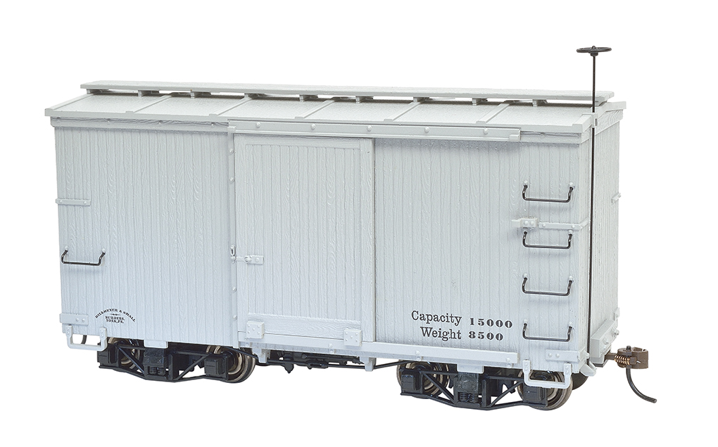 18 ft. Box Car W/ Murphy Roof - Gray, Data Only (2 per box)