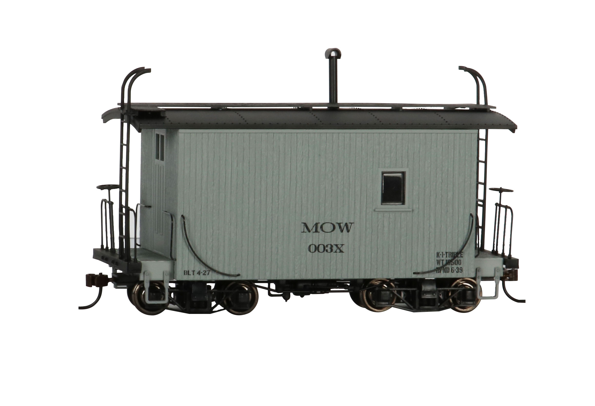 18 ft. Logging Caboose - MOW Gray, Data Only