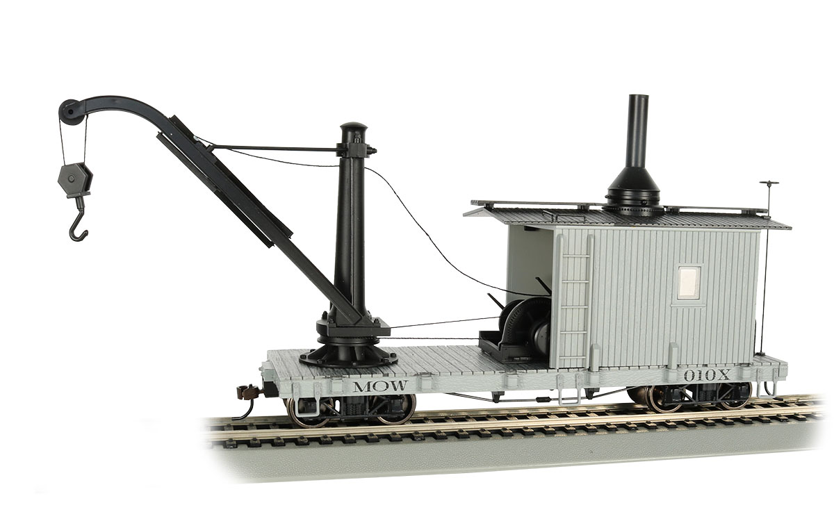 Bachmann 26901 On30 Derrick Car MOW gray 160-26901 BAC26901