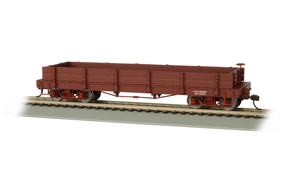 BAC27201 Bachmann Industries On30 Gondola Oxide Red Data Only 160-27201