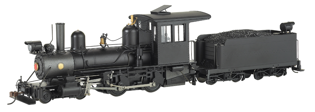 Black Steel Cab, Foot Board Pilot Outside Frame 4-4-0 - DCC